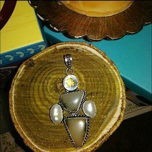 True Vintage! Mexican Silver baroque pearl pendant